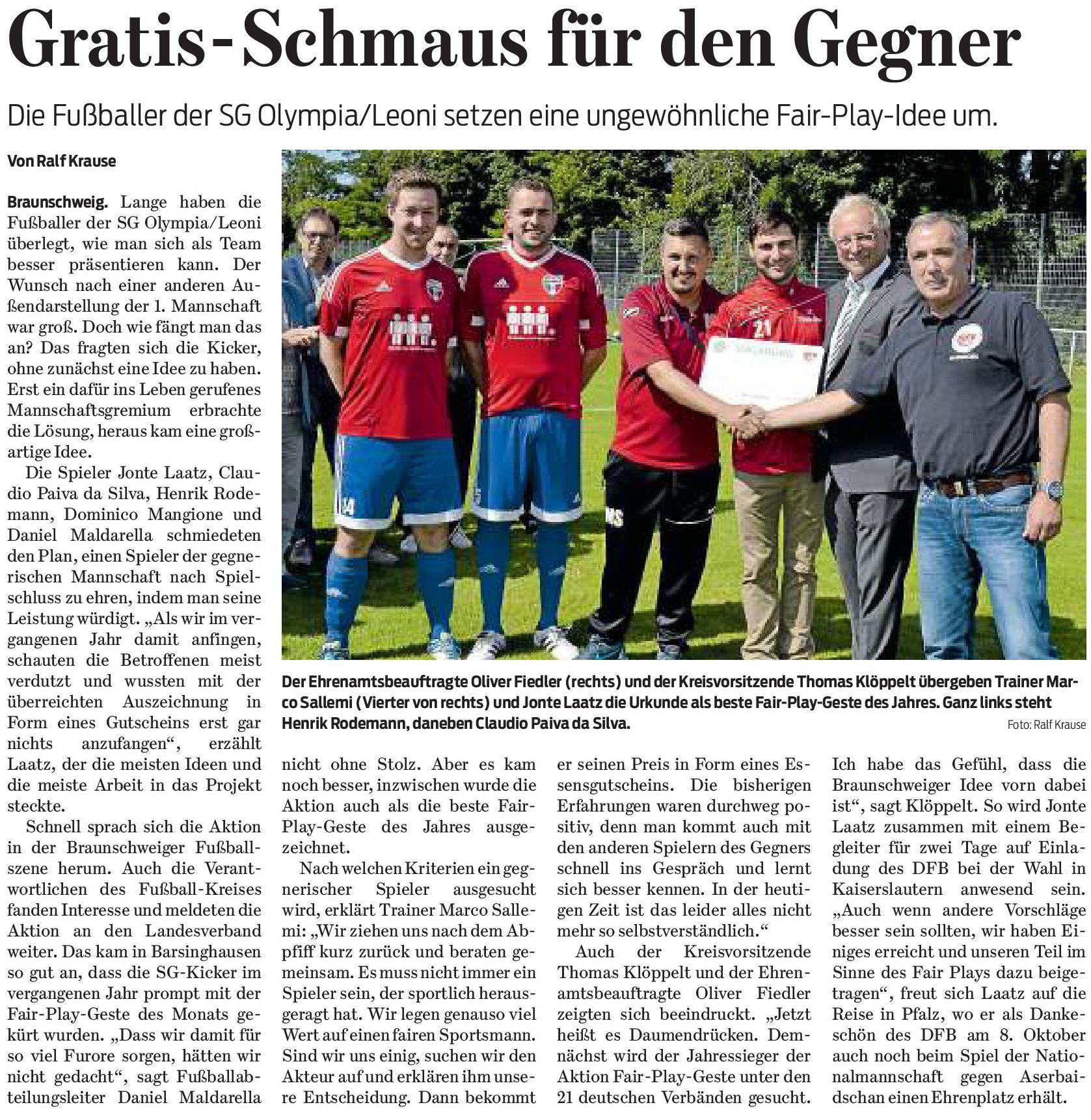 Quelle: Braunschweiger Zeitung vom 06.09.2017